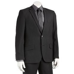Haggar  - Slim-Fit Checked Heathered Black Suit Jacket