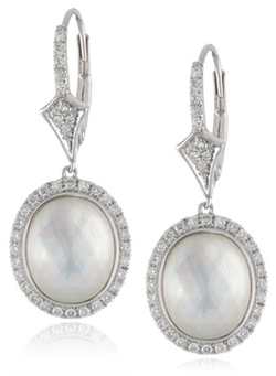 Badgley Mischka Fine Jewelry - Sterling Silver Diamond Earrings