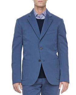 Vince  - Linen-Blend Suit Jacket