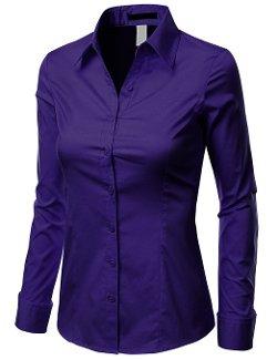 Doublju  - Long Sleeve Button-Down Shirt