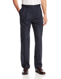 Louis Raphael - Wool Pleated Plaid with Comfort Waist Dress Pants