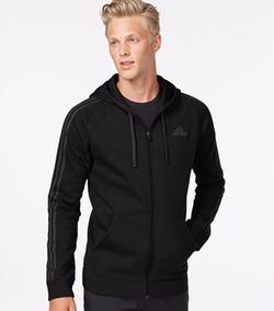 Adidas - Cotton Fleece Full-Zip Hoodie