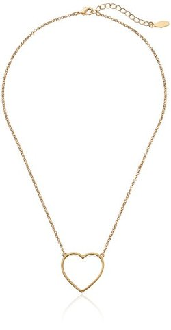 Kensie  - Gold-Plated Open Heart Pendant Necklace