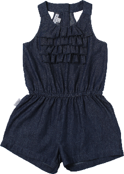 SOSOOKI - Dandelion Denim Frill Playsuit
