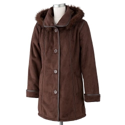 Excelled - Hooded Faux-Suede Jacket
