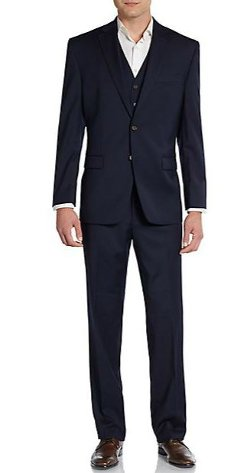 Lauren Ralph Lauren - Regular-Fit Solid Three-Piece Wool Suit