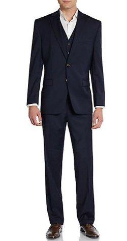 Lauren Ralph Lauren - Regular-Fit Solid Three-Piece Wool Suit