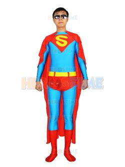 Herostime - Blue & Red Superman Spandex Superhero Costume
