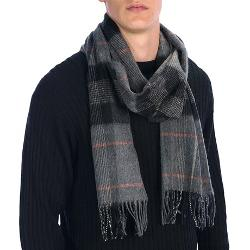 Johnstons of Elgin  - Centered Check Scarf