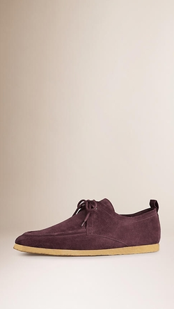 Burberry - Crepe Sole Suede Shoes