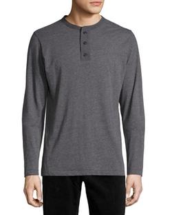 Billy Reid  - Long-Sleeve Jersey Henley Shirt