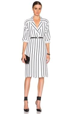 Tome  - Silk Stripe Coat Dress