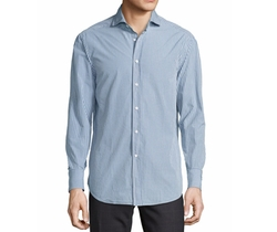 Brunello Cucinelli  - Check Woven Sport Shirt