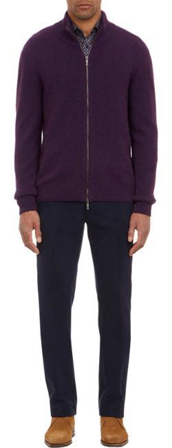 Etro  - Cashmere Zip-Front Cardigan