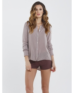 Boxie Tees - Button Down Long Sleeve Collared Blouse