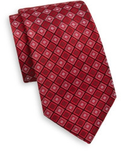 Saks Fifth Avenue - Floral Diamond Silk Tie
