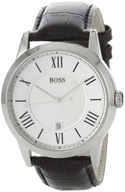 Boss Hugo Boss - Silver Dial Leather Watch