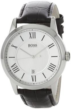 Boss Hugo Boss - Silver Dial Leather Watch