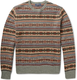 Polo Ralph Lauren   - Fair Isle Wool-Blend Sweater