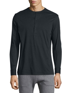 Helmut Lang  - Long-Sleeve Henley Shirt