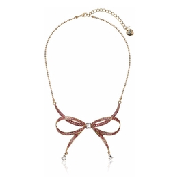 Betsey Johnson - Marie Antoinette Pave Bow Necklace