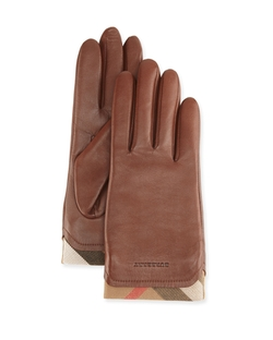 Burberry	 - Tech Leather Gloves