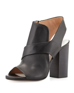 Maison Margiela  - Cutout Leather Summer Bootie