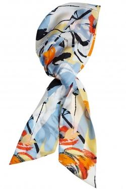 Calypso St. Barth - Silk Floral Print Headscarf