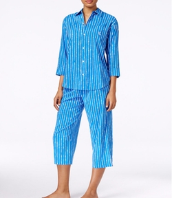 Lauren Ralph Lauren - Striped Top and Capri Pajama Set