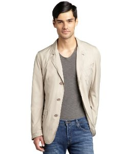 Herno  - Beige Water Resistant Three-Button Blazer