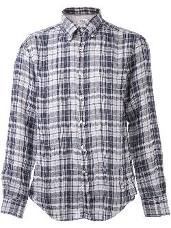 BRUNELLO CUCINELLI  - plaid print shirt
