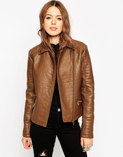 Asos Collection - Extured Biker Jacket