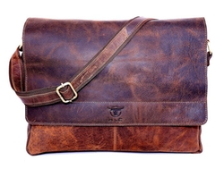 HLC - Leather Messenger Bag