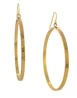 Bcbgeneration - Goldtone Drop Hoop Earrings