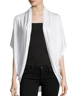Neiman Marcus - Short-Sleeve Cocoon Cardigan