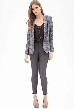 Forever 21 - Abstract Print Draped Blazer