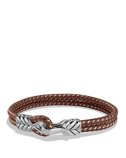 David Yurman  - Chevron Two-Row Bracelet In Brown