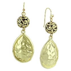 Target - Hammered Teardrop Design Drop Earring