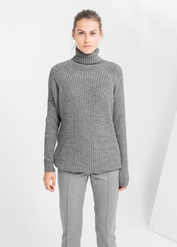 Mango - Ribbed Wool-Blend Sweater