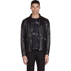Paul Smith Jeans - Leather Zip Up Jacket