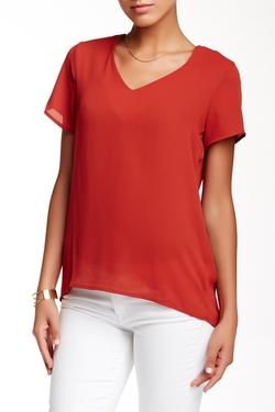Ro & De - V-Neck Short Sleeve Blouse