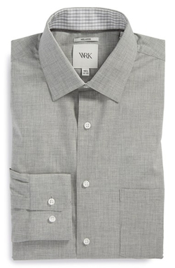 W.R.K  - Trim Fit Mélange Dress Shirt