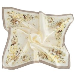 Top Tie - Hand Painting Square Silk Scarf