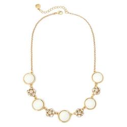 Monet - Silver-Tone Crystal Collar Necklace