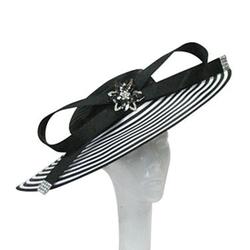 Whittall & Shon  - Striped Wide-Brim Hat