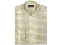 Lauren Ralph Lauren  - Non-Iron Yellow Check Dress Shirt