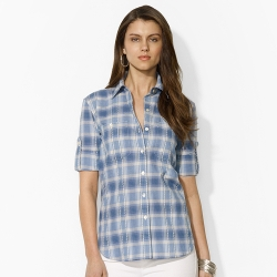 Ralph Lauren - Plaid Roll-Sleeved Shirt