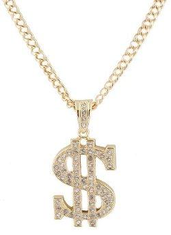 JOTW - Dollar Sign Pendant with Cuban Chain Necklace