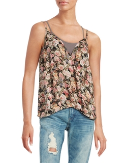 Design Lab Lord & Taylor - Surplice Floral Tank
