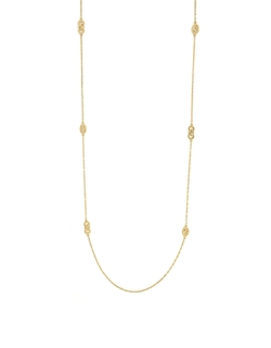Cole Haan - Signature Metal Logo Station Necklace